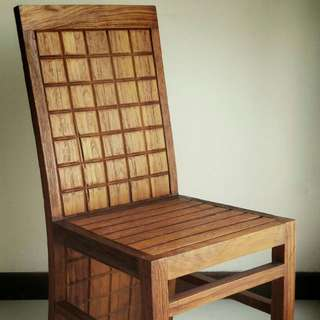 X 4 Preloved High Quality Solid Teak Wood Dining Chairs