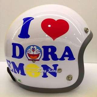 【金剛安全帽】哆啦A夢 3/4半罩騎士帽 買ㄧ送一 買就送竹蜻蜓一隻(隨機出貨不挑色)
