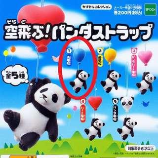 扭蛋 飛 氣球 熊貓 造型吊飾 轉蛋