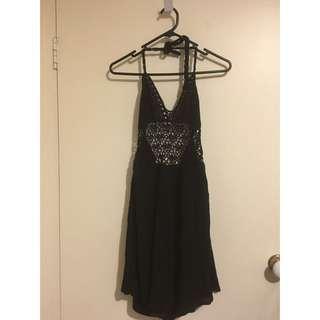 Miss Guided Black Beach Dress