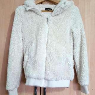 Fluffly Bear Ears Coat