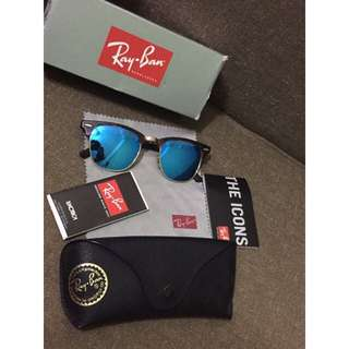 Authentic Unisex Rayban Clubmaster Leapord print frame