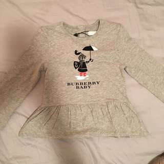 Burberry Baby Long Sleeve Top