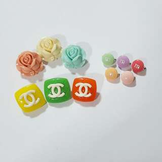 Blooming ROSE, M&M and Chanel Inspired Brooch