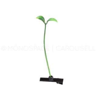 Green Plant Sprout Hair Clip