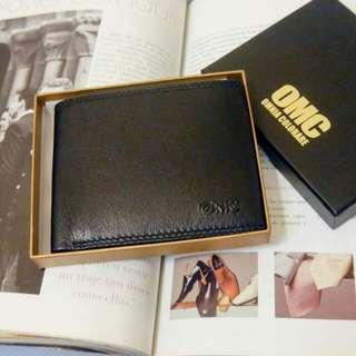 韓國專櫃品牌 OMC 皮夾 質感軟牛皮 真皮
