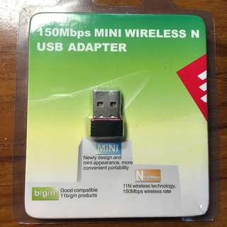 150Mbps Mini Wireless N USB Adapter