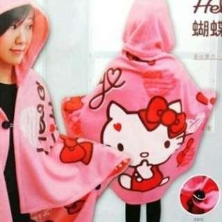 Hello Kitty甜心帽毯(可議價)