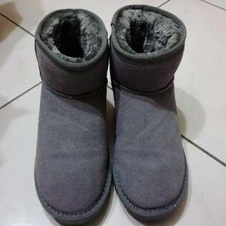 🚚 灰色短筒雪靴 37/23.5