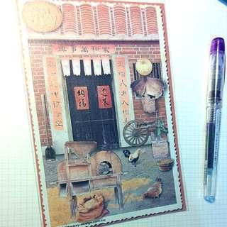 猴子設計-復古懷舊明信片