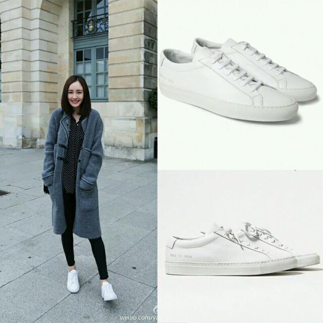 真皮時尚小白鞋