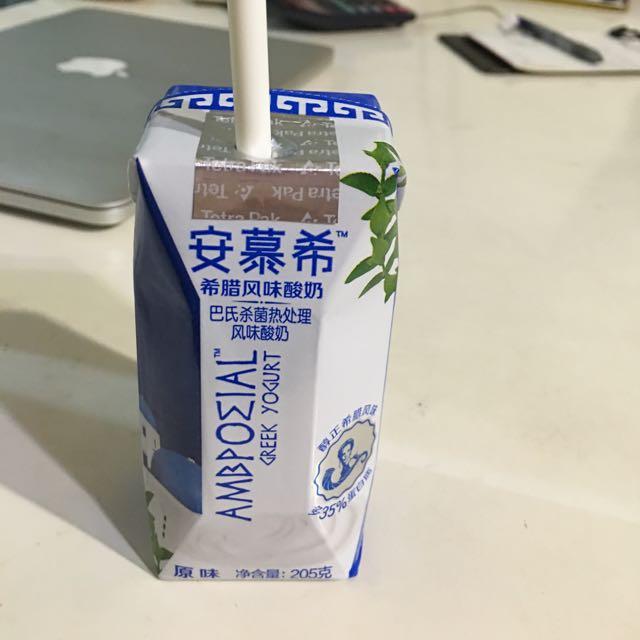 安慕希希臘酸奶