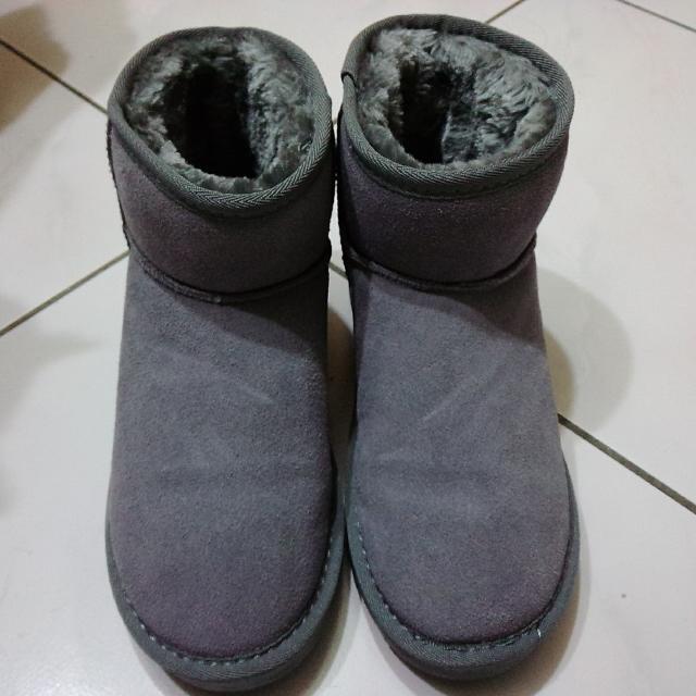 灰色短筒雪靴 37/23.5