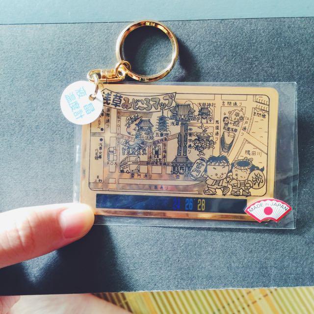 全新 日本🇯🇵淺草寺液晶溫度計鑰匙圈