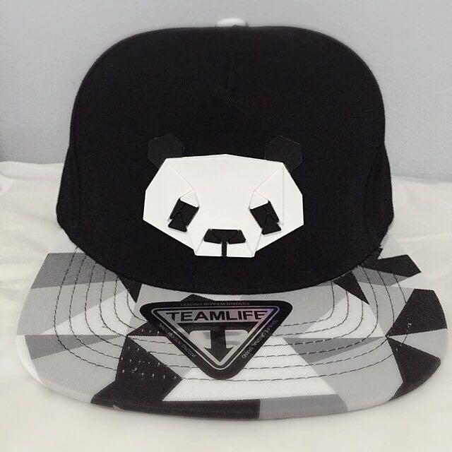 Black Panda Cap