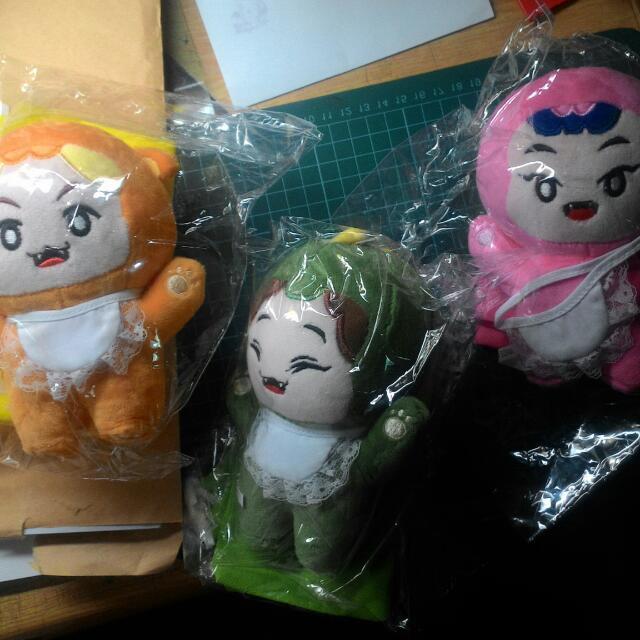 EXO 娃娃 玩偶 紅綠燈 伯賢 包子 倩倩