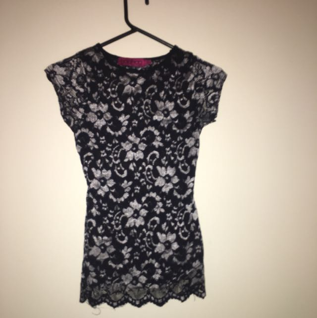 Fitted Dress Top Evening Cut Out Back