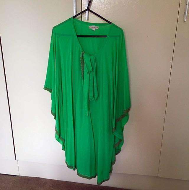 Green Beaded Kaftan