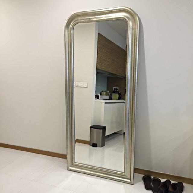Ikea E Mirror Full Length Silver, Ikea Long Length Mirror