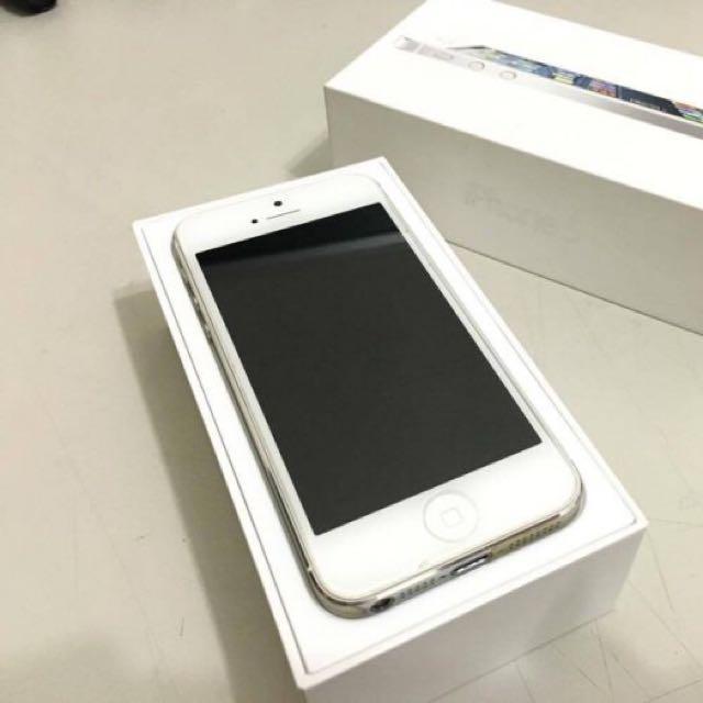 iPhone 5 32g 銀色8成新