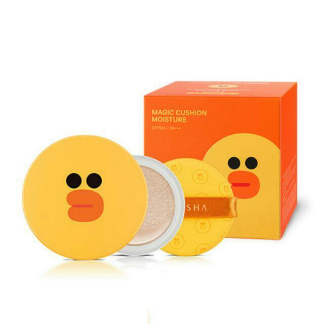 韓國代購💖(現貨)MISSHA X LINE 莎莉魔法保濕氣墊粉餅