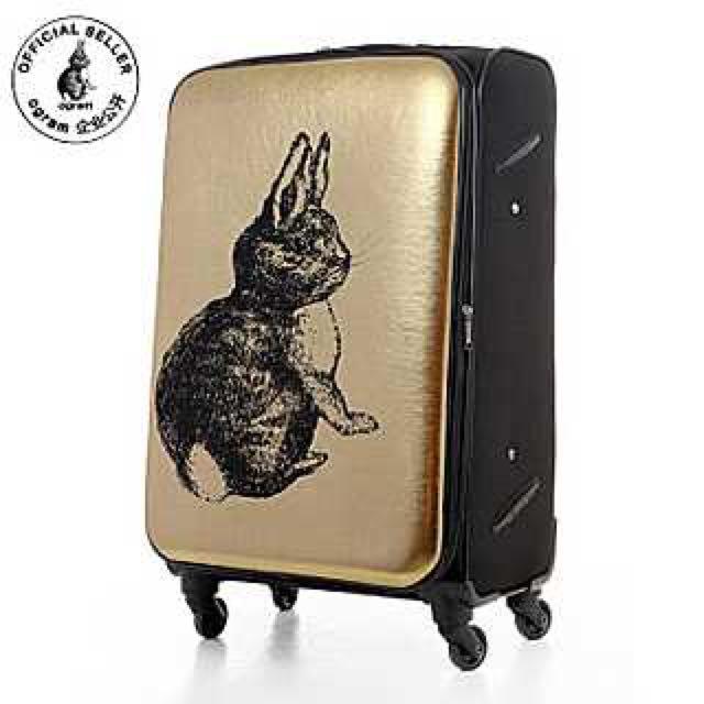 國Ogram正品李成敏同款金色兔子旅行箱登機箱