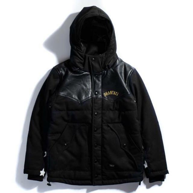 Phantaci 周杰倫 潮牌 Leather Splice Padded Jacket 全新台灣公司貨 Size Medium