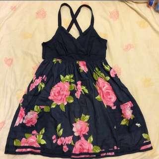 🇺🇸A&f夏日度假風洋裝 L號
