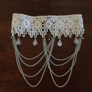 ASOS Victoriana Lace Chains Choker Necklace - NWOT