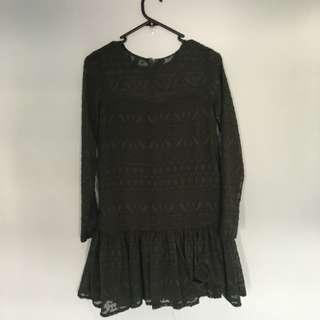 INDIKAH Size 8 Canyon Drop Waist Dress