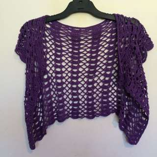 Knitted Purple Over Top