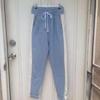 OSKAR Denim Pants High Waist Elastic Waistband