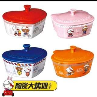 現貨#7-11 Line x HelloKitty 陶瓷大烤皿