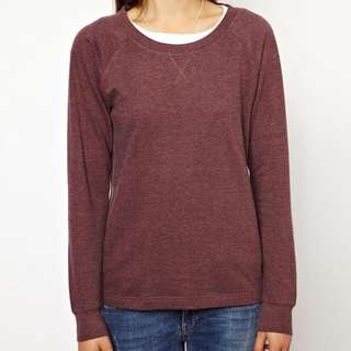 Maroon Crew Neck Sweat