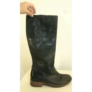URBAN SOUL Leather High Boots