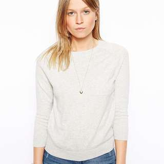 ASOS White Pocket Thin Jumper