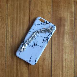 Marble iPhone 6/6s Hard case With Sliver Chain Holder