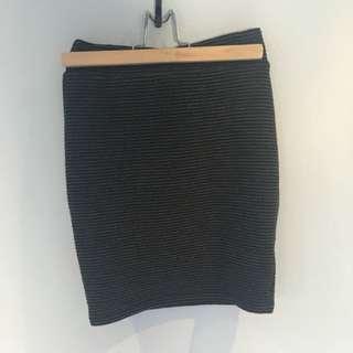SPORTSGIRL Size: XXS Charcoal Ribbed Skirt
