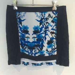 Floral Block Skirt