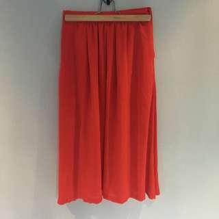 Red BARDOT Mid Skirt Size:6