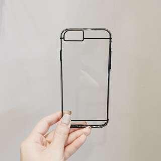 現貨。透明黑邊iphone手機殼