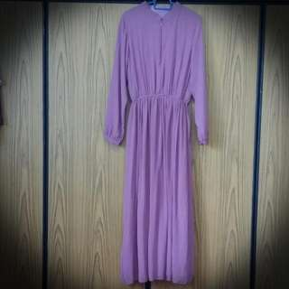 BNwoT Chiffon Maxi Dress With Lining in Dusty Lilac (S/M size)