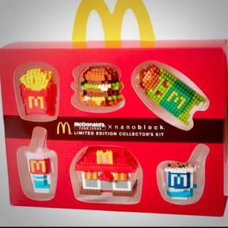 BNIB McDonald Food icon Nano Blocks (Limited Edition)