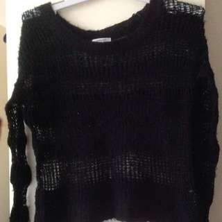 Valleygirl Black Knitted Sweater