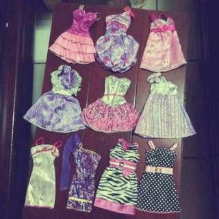 芭比娃娃 服裝 套裝 裙子 禮服 配件