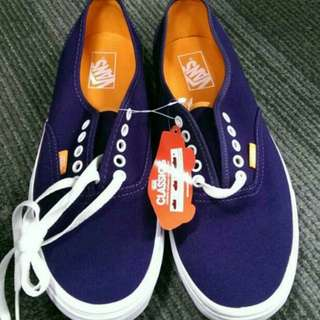 Authentic Blue Vans Sneakers