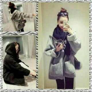 韓國寬鬆大版口袋外套