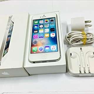Iphone5 16g 銀色支援4g 約9成新以上 盒裝 附贈配件完整 非5s