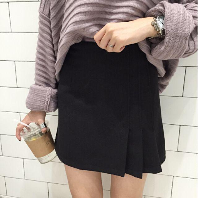 2016春季新款韓版簡潔a字裙氣質百搭短裙顯瘦半身裙 高腰半身裙