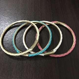 時尚皮革四色手環